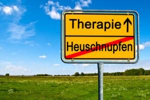 Ortsschild Heuschnupfen Therapie